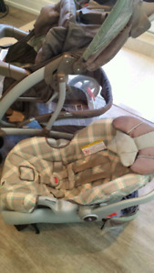 Stroller, Car Seat and matching Playpen