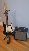 Squire Strat Guitar and Accessories