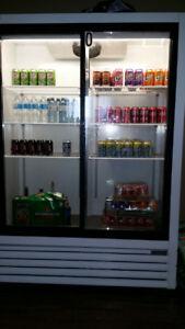 Commercial double fridge
