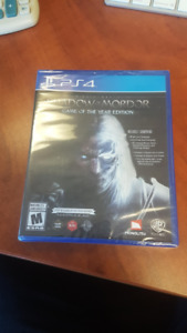 Shadow of Mordor Game of the Year Edition Playstation 4 Unopened