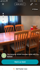 Wooden dining table set!!! $200 OBO