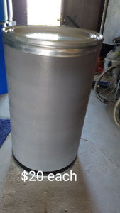 Large clean fiber barrels perfect for shipping or storage