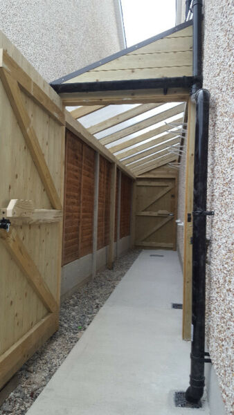 Lean To Shed Covered Side Passageway Side Return Cover