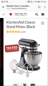 New KitchenAid Classic Stand Mixer (Black) for sale