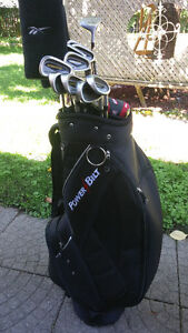 Powerbilt 13pc  R/H set &Powerbilt Cart Bag. $140