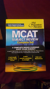 MCAT Review Books