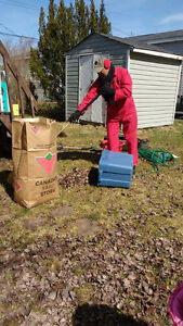 Offering: Cleaning services to backyard, storage, shed, etc
