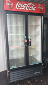 Coca cola commercial double doors drinks display Cooler fully working