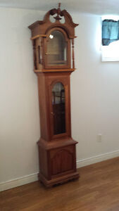 Walnut grandfather clock- cabinet only