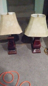 2 table lamps excellent condition