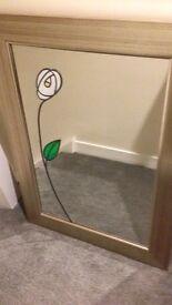 Rennie Mackintosh style mirror