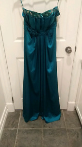 New Teal Sink Prom Dress size 10 ( European 40)