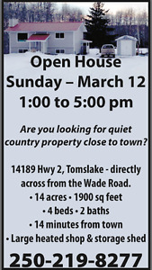 OPEN HOUSE - MARCH 12