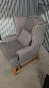 Beautiful (Grey) Wing Chair