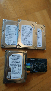 3x Seagate 80Gb/Western digital 250GBHDD & Sound Card