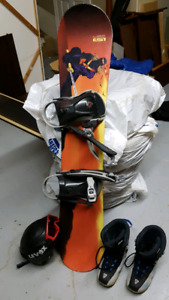 Snowboard. Full set
