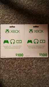 2 Xbox $100 Gift Cards $90 each or $150 for both Kitchener / Waterloo Kitchener Area image 1