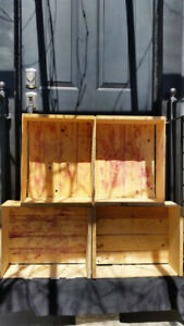 Vintage Wood Slat Grape Crates