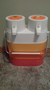 Twin Carrying Insulated Containers (never used)