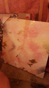 Pink & Gold canvas painting