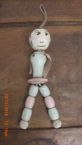 Very Rare 1920's Wooden Spool Doll