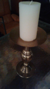 candle holder and candle