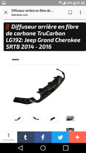 JEEP SRT 2014 A 2016 KITS  DE CAROSSERIE CARBONE
