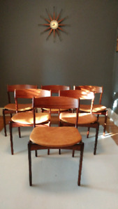 Eric Buch for O.D Mobler Rosewood Dining Chairs
