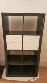 Grey storage unit