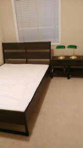 IKEA Full Size Bed Frame with Slatted Bed Base