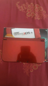 MINT CONDITION new NINTENDO 3DS XL w/ Pokemon Moon and Alpha Sap