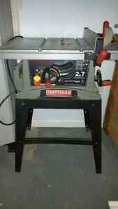 Table saw and router