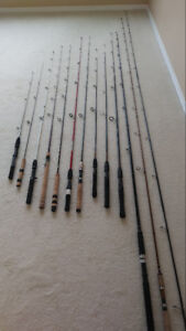 FISHING GEAR ( CHEAP ) RODS REELS LURES LINES TACKLES BOX NET