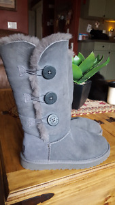 tall grey authentic uggs