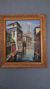 Venetian handmade oil painting knife painting together with the