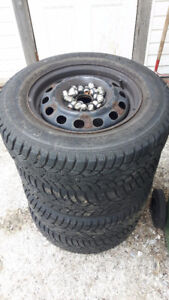 185/70/14 Snow Tires on rims for 2004 Civic
