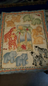 BUMPER PADS CRIB SET WITH BLANKET