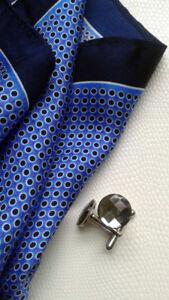 Swarovski Crystal Men's Cufflinks/Cuff Links