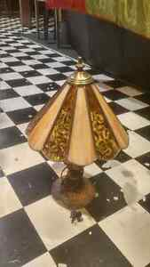 Older, stained glass table lamp