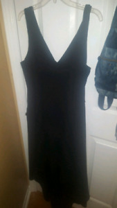 Le chateau black high low dress with v neck
