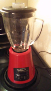 Red multi speed blender