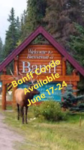 Banff Timeshare Condo Rental June 17-24