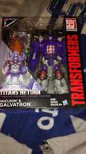 Transformers nucleon & galvatron brand new and bionicle lego set