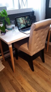 Beautiful elegant chair for your office, or makeup table.