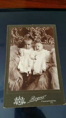 Antique Cabinet Photo, Hidden Moms Arms Hold Infant & Baby, Chambersburg, PA
