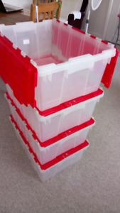 Heavy-duty plastic storage containers