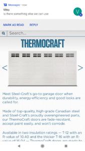 16X7 steel insulated garage door