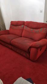 4 seater & 1 seater recliner sofa set
