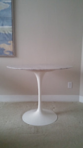 """Tulip White Marble Dining Table 36"""""""