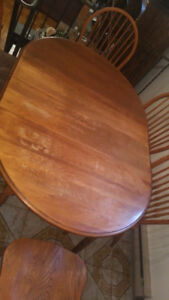 Dining Table - Solid Wood With 4 Wood Chairs